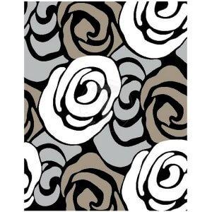 Rose grey & cream 140x190