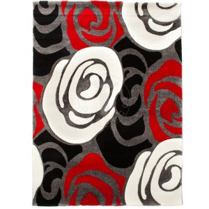 Rose red & black 140x190